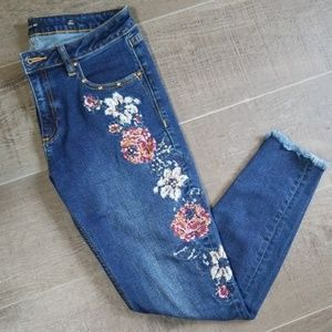 Miss Me embroidered embellished jeans